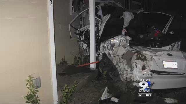video driver crashes into albany home